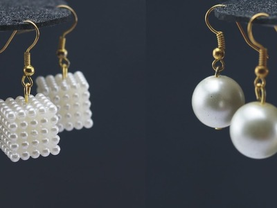 Make 2 Types of Latest Pearl Earrings Designs For Women's | Fashionable Jewelry