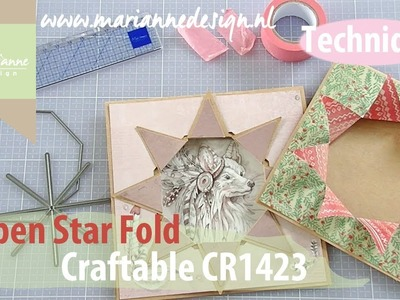 Marianne Design Card Shape   Open Star Fold with the CR1423   Cardmaking Die Cutting