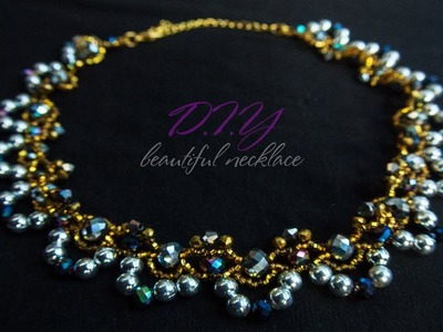 Necklace of beads.Diy.Tutorial: Necklace Master Class!
