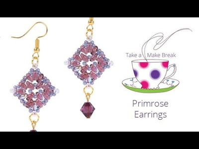Primrose Earrings | Take a Make Break with Beads Direct