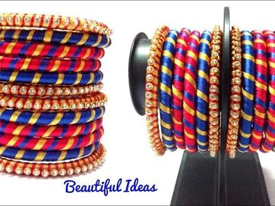 Silk thread Fancy Bangles sets.Silk thread Bangles Designs.How to Make Silk thread Designer Bangles