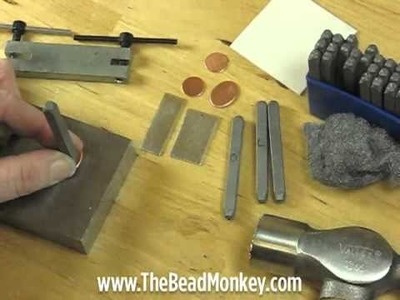 The Bead Monkey - Metal Stamping with Letter Punch