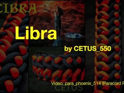 The Libra Zodiac Knot Version (3) Paracord Bracelet design by Cetus without buckle.