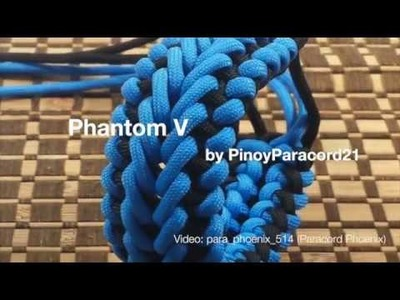 The Phantom V Paracord Bracelet design by PinoyParacordist21 6-Strand without buckle.