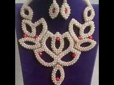 The tutorial on how to make this beautiful White and red flower bead