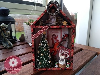 Tim Holtz Christmas Shadow Box