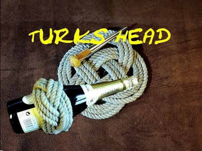 Turks Head Covering Knot Turks Head Thump Mat - 1 Knot two Different Results - How To