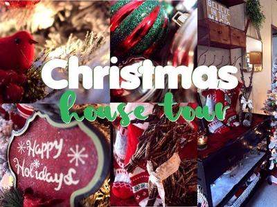 CHRISTMAS HOME TOUR 2017   CHRISTMAS DECOR TOUR    Traditional and Rustic