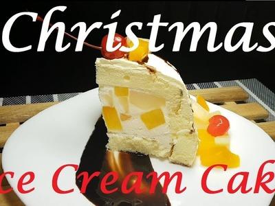Christmas Ice Cream cake   Fruit Cocktail ice cream cake   Ice cream Cake