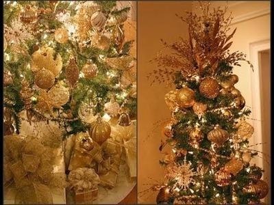 CHRISTMAS TREE DECORATING IDEAS SILVER AND GOLD