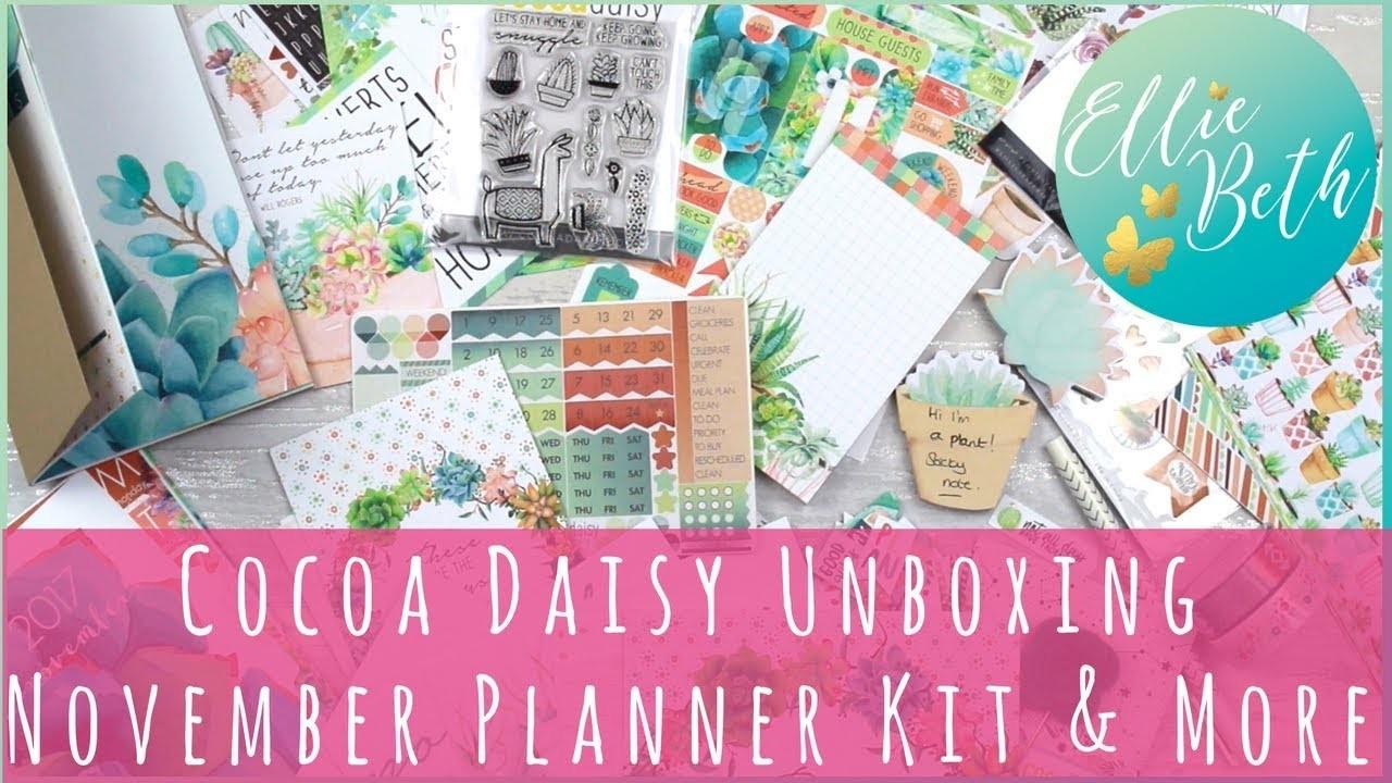 Cocoa Daisy Unboxing: November Planner Kit!