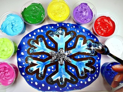 DIY GLITTER SNOWFLAKE Painting| Christmas Crafts for Kids| Holiday Crafts For Kids| Glitter DIY