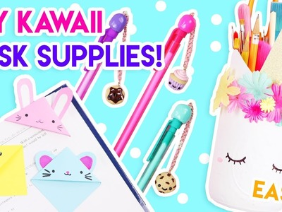 DIY Kawaii Desk + School Supplies (Quick and Easy)! ????