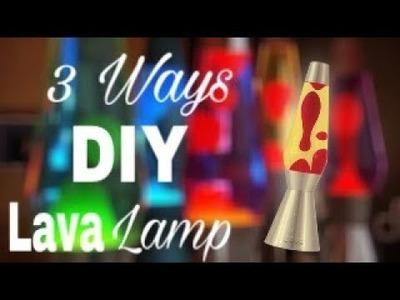 DIY Lava Lamp! 3 DIFFERENT WAYS!!!