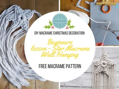 DIY Macrame Wall Hanging - Christmas Crafts Macrame Shooting Star for beginners