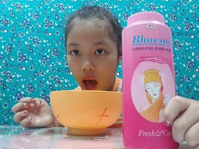 DIY NITA. MAKING SLIME with Bhaesaj Cooling Powder