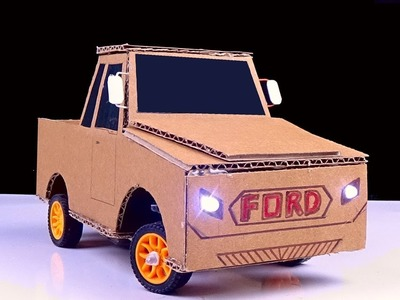 Diy Rc Car Easy - How to make Remote Control Ford Car from Cardboard