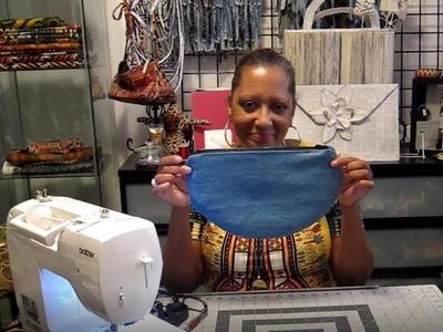 DIY Round Moon Shape   Clutch Bag   Wristlet   Free Pattern Download
