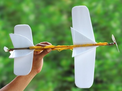 DIY Rubber Band Plane - How to Make a Rubber Band Plane
