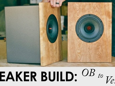 DIY SPEAKER BUILD || Open Baffle to a Vented Enclosure