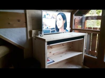 DIY TV Lift Sideboard with BlueTooth Soundbar