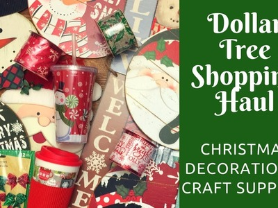 Dollar Tree Shopping Haul: Christmas Decorations. Crafting Supplies