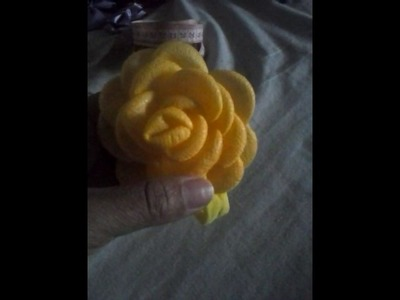 Flor boleada. Em tnt