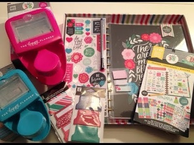 Happy Planner, Sticker and Punch Haul -Fall 2017