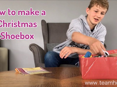 How to make a Christmas Shoebox