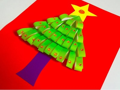How to make a Christmas Tree with simple color paper in 5 minutes | Handmade Xmas decoration ideas
