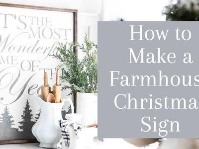 How to Make a Farmhouse Christmas Sign