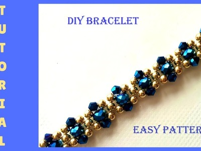 How to make beaded elegant bracelet. Christmas gift idea ????????????