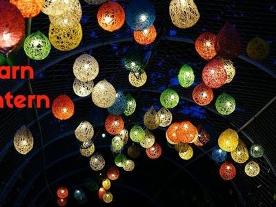 HOW TO MAKE YARN LANTERN FOR CHRISTMAS TREE ORNAMENTS | CHRISTMAS DECORATING IDEAS
