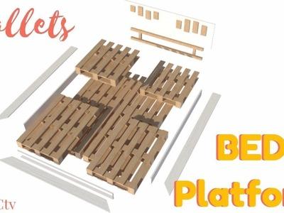 How to make your DIY pallet BED platform. DIY + Free plan