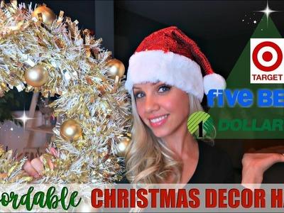 HUGE CHRISTMAS DECOR HAUL 2017. EVERYTHING $5 OR LESS!. AFFORDABLE CHRISTMAS DECOR