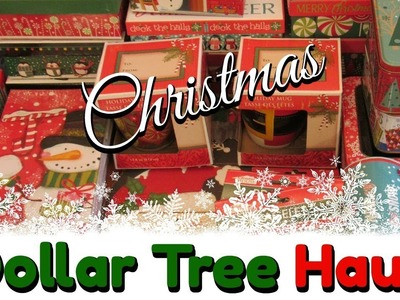 Huge DOLLAR TREE Christmas HAUL!   Ornaments, Boxes and Decorations! November 2017