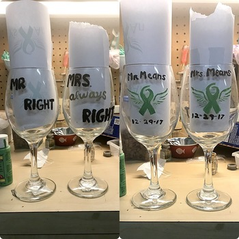 Mr. & Mrs Wine Glass's