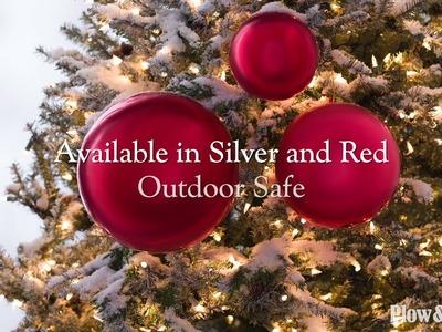 Oversized Shatterproof Christmas Ball Ornaments, Set of 3 SKU# 65D28 - Plow & Hearth