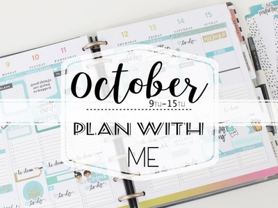 PLAN WITH ME - October 9th -15th   Classic Happy Planner   MAMBI   At Home With Quita