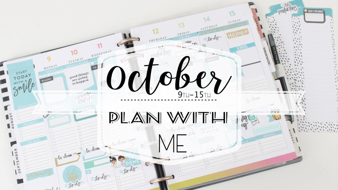 PLAN WITH ME - October 9th -15th | Classic Happy Planner | MAMBI | At Home With Quita