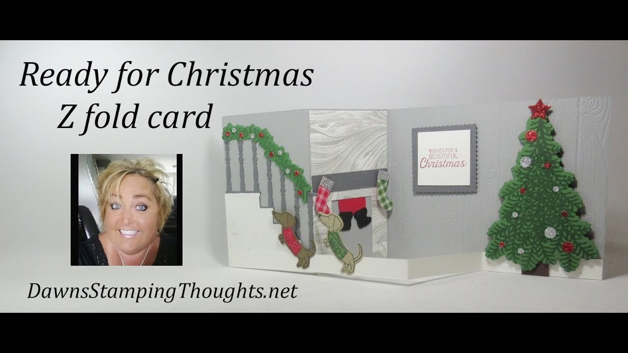 Ready for Christmas Z fold card