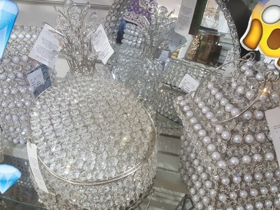 SHOP WITH ME: HOMEGOODS | EXTREMELY GLAM | CRYSTALS EVERYWHERE! | FALL OCT 2017 CHRISTMAS HOME DECOR