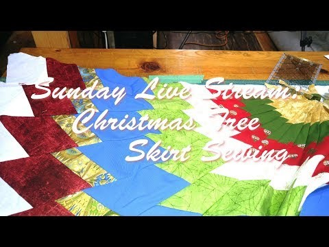 Sunday Live:  Christmas Tree Skirt Extending the Pattern Part 2