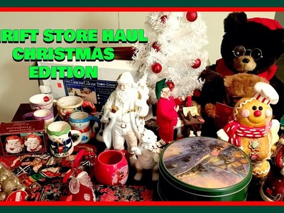 The Best Thrift Store Haul-Christmas Home Decorations-For Under $30 Ever!????