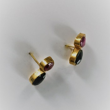 Tourmaline Earrings/Birthday gift for her/Valentines day Gift for her