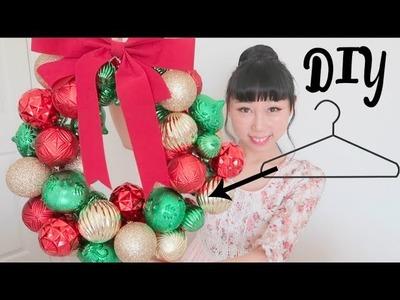 Transform Hanger Into Christmas Wreath   Christmas DIY 2017