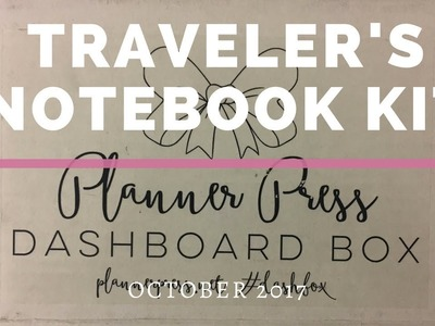 "Traveler's Notebook Kit: Planner Press ""October A6 Size Dashbox"""