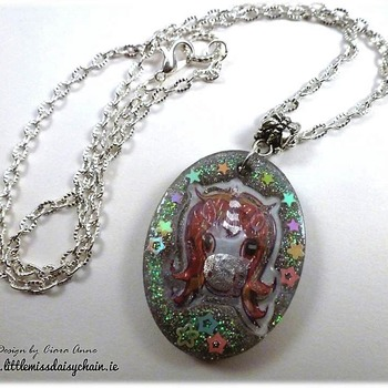 Unicorn Dazzle Resin Necklace