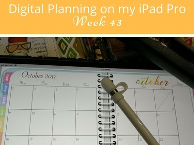 Weekly Setup in My Digital Planner on the iPad Pro With GoodNotes -  Week 42