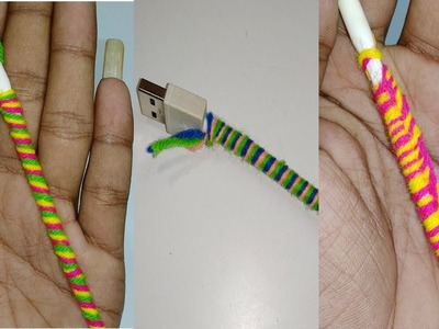 3 Easy way to decorate your earphones and cables using woolen